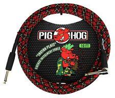 "Pig Hog PCH10PLR 1/4"" Straight to 1/4"" Right-Angle Tartain Plaid Instrument Cabl"