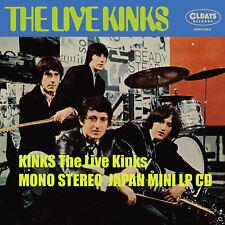 KINKS The Live Kinks MONO STEREO  JAPAN MINI LP CD