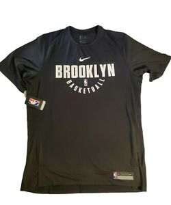 Nike Brooklyn Nets NBA Practice Shooting Shirt Mens Size XL 877524-010 New/Tags