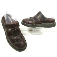 Born Shoes Womens Brown Leather Fisherman Slip On Sandals Clog Mule US 8 M EU 39