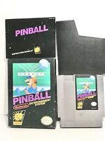 Pinball Nintendo Entertainment System NES Complete in Box with Manual