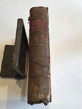 1814 Blands' Proverbs Adagia of ERASMUS Explanations Antique Hardcover Book