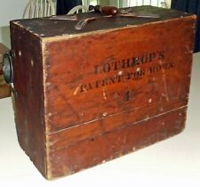 Rare Antique LOTHROP'S FOG HORN Working! Loud Copper Bell BRASS Pipes Circa 1901
