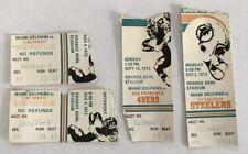 LOT OF 1973 MIAMI DOLPHINS HOME GAME TICKET STUBS ORANGE BOWL STADIUM