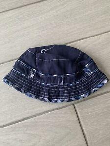 Debenhams Jasper Conran Babies Navy Blue Summer Hat - Straps - 0-6 Months - BNWT