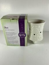 Scentsy Mini Warmer Fizz White Bubbles ~ Retired ~ Plug In Nightlight Wax Warmer