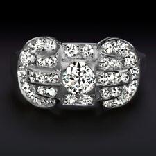 3/4ct VS DIAMOND RING PLATINUM OLD CUT VINTAGE COCKTAIL RETRO ENGAGEMENT ESTATE