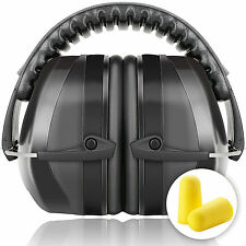 Safety Ear Muffs Defenders Shooting Hearing Protector Fits Adults To Kids Black