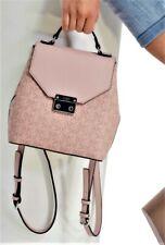 NWT GUESS REDDING BACKPACK BAG Dusty Mauve Pink Logo Handbag GENUINE