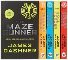 NEW Maze Runner Classic Series 5 Books Collection Paperback By James Dashner