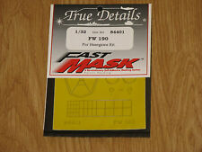 True Details 1:32 Scale Fw 190 Fast Mask for Hasegawa One Set Pack #84401