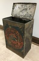 """VINTAGE 1800's LARGE HUNTLEY & PALMERS """"SUPERIOR READING"""" BISCUIT TIN STORE BIN"""