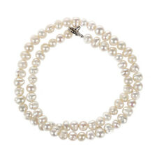 White Pearl Freshwater Choker Necklace 5mm Z7l7