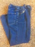 Circo boys jeans blue wash adjustable waist wide leg relaxed fit size 14 H