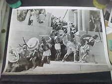 HELEN OF TROY, orig b/w 11x14 #1033  (battle scene on stairs)