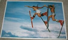 Rare Vintage 1978 'Double Daffy's' Ski Poster 'Streaking' Thought Factory 23x35