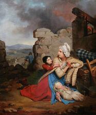 Tableau romantique scène Guerre d'Indépendance grecque Romantisme Grèce huile