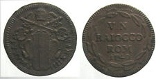 *TRIU*  ROMA Benedetto XIV BAIOCCO 1740 in rame