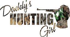 Daddy's hunting Camo Girl Vinyl Printed Sticker  Decal / car / truck/ window/
