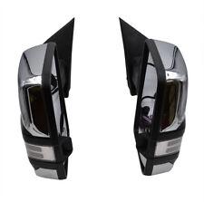 For 07-13 Silverado Sierra Chrome Tow Mirror Power+Heated+Dynamic LED Signal