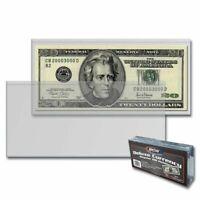 50 Semi-Rigid Vinyl Money Protector Sleeve US Dollar Bill Currency Holders BCW