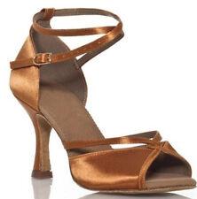 New Women Classic Tan Latin Salsa Ballroom Dance Shoes High Heels ALL SIZE