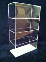 Acrylic CounterTop Display Case 9.5 x 4 x16 Showcase/ Select Shelves NO DOOR