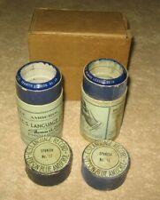 2 Edison Blue Amberol I.C.S. Language Spanish Cylinder Records 17 & 18 with Box