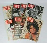 Lot of 7 Vintage LIFE Magazines 1971 & 1972 Harry Truman Diana Ross & Others
