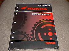 Genuine Honda CRF450R OEM Factory Service Manual 61MEN76 CRF450R 2009-2015