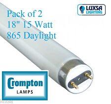 X2 Crompton 18 Inch 15w 15 Watt 865 Daylight Tube T8 F15/865 Blub Lt15w/865