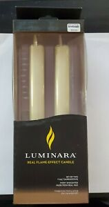 Luminara Real Flame -Effect Candle- box includes Set Of Two includes used remote