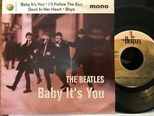 "1995 The Beatles  BABY IT'S YOU 7"" Mono  45 EP & Picture Sleeve 4 BBC Tracks NEW"