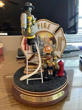 BRADFORD EXCHANGE FIREFIGHTER FIGURINE  #2 IN SERIES OUT OF HARMS WAY ,Numbered