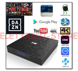 ANDROID TV BOX SMART TV T9 PRO ANDROID 8.1 OREO 905X 4GB RAM 32GB 4K WIFI
