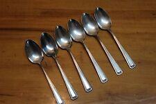 6 1881 Rogers A1 Silverplate Flatware Teaspoons