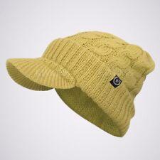 Visor Cable Knit Slouchy Baggy Beanie Oversize Winter Hat Ski Cap Skull Womens