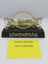 Vintage Lowenbrau Beer Clock and Lighted Sign, Light Needs Repair