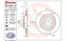 2x BREMBO Bremsscheiben hinten belüftet 310mm für VOLKSWAGEN CC 09.A200.11