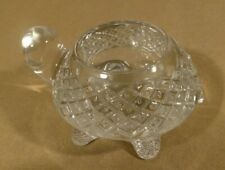 turtle shaped votive candle holder, heavy clear crystal glass Avon, vintage xx