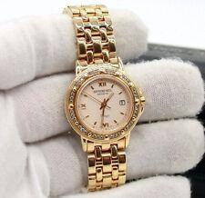 LADIES RAYMOND WEIL TANGO 5360 QUARTZ SS GOLD PLATED DIAMOND BEZEL WATCH.MINT !!