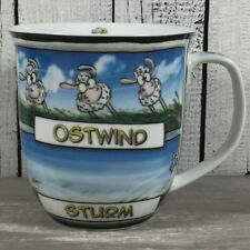 Großer Kaffeebecher COMIC SCHAF WIND & STURM Hösti Becher Tasse maritim
