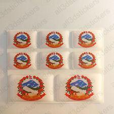 Autocollant Népal Résine Dôme Stickers NEPAL ECUSSON 3D Vinyle Adhésif Voiture Moto