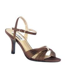 "NEW Women's Dyeables ""Natalie"" -WAS $80!- size 10AA (NARROW) chocolate, 3"" heel"