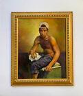 Oil Painting Male Portrait African American Man Gay Interest By Margi Cochran