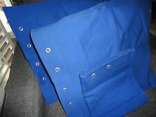 TOMMY HILFIGER CHINO BLUE GROMMETS TWILL (3) STANDARD PILLOW SHAMS BOYS COTTON