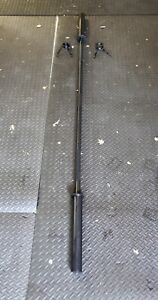 "Weider 7' Foot Olympic Barbell w/ Clips - 3 Piece Black Bar For 2"" Weight Plates"