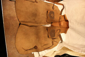 1950's TEX TAN CHILD'S LEATHER COWBOY VEST AND CHAPS TEXTAN