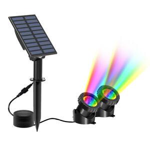 Solar 12LEDs RGB Wasserdichte Scheinwerfer Garten Outdoor Teich Pool Unterwasser