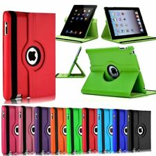 Premium iPad 2nd 3rd 4th Generation 360 Rotating Leather Stand Case Cover Wallet